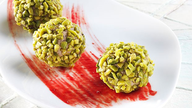 Turkey Pralinas and Cranberry Sauce with American Pistachios
