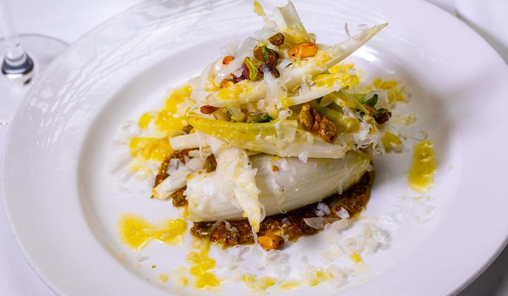 Endive Salad and pistachio aillade
