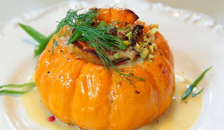 Roasted Whole Baby Pumpkins